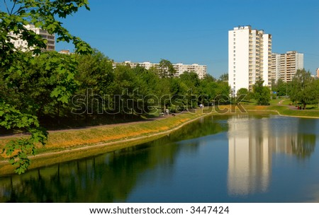 Moscow. Typical bedroom community - stock photo