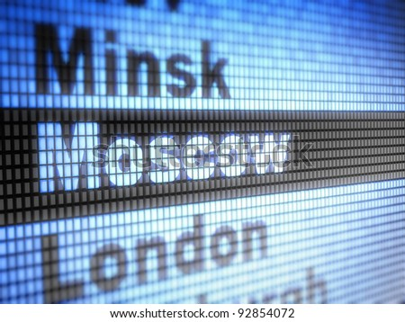Moscow. World capitals  Full collection of icons like that is in my portfolio - stock photo