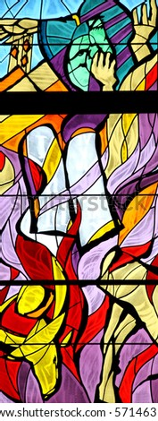 Moses, stained glass - stock photo