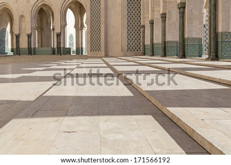 Mosque Hassan II in Casablanca, Morocco, Africa - stock photo
