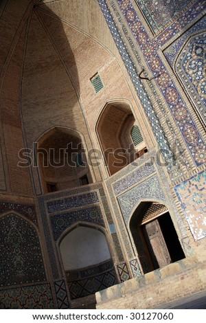 Mosque in Bukhara, Uzbekistan - stock photo