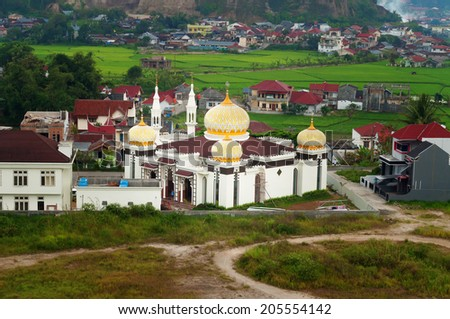 Mosque in Bukittinggi. Sumatra. Indonesia - stock photo