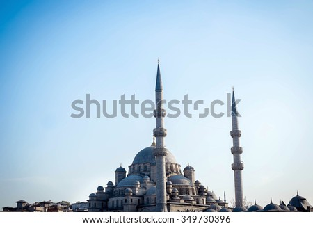 Mosque in Istanbul, Turkey - stock photo