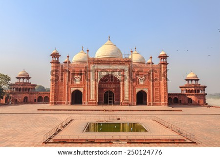 Mosque in the Taj mahal Complex, Agra, India - stock photo