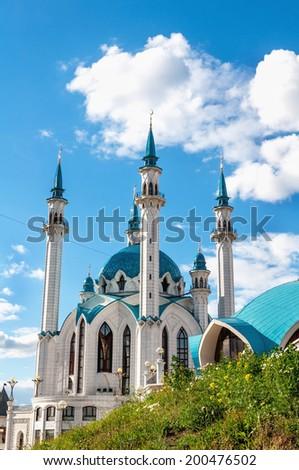 "Mosque ""Kul Sharif"" in Kazan Kremlin, Tatarstan, Russia - stock photo"