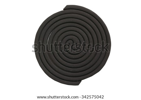 Mosquito repellent coils isolated on white background - stock photo