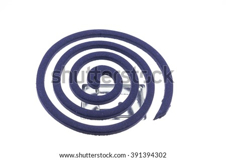 mosquito repellents on white background - stock photo