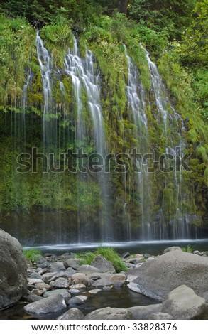 Mossbrae falls, Northern California, USA - stock photo