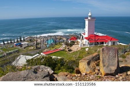 Mossel Bay Lighthouse -  South Africa  - stock photo