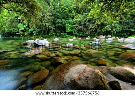 Mossman River, Daintree National Park, Queensland, Australia - stock photo