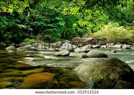 Mosssman River, Daintree National Park, Queensland, Australia - stock photo
