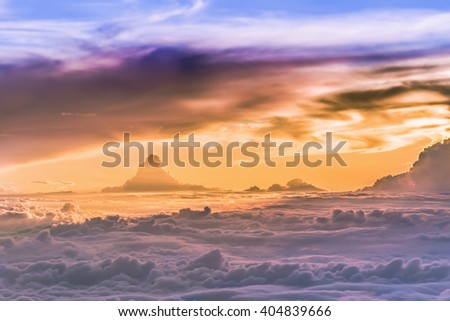 Most beautiful Heaven Grand of clouds and skyscape. - stock photo