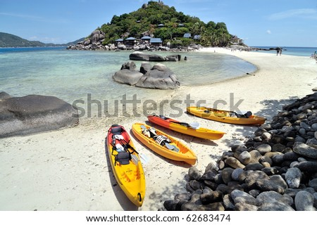 Most beautiful Island, Nangyuan Island, Thailand - stock photo