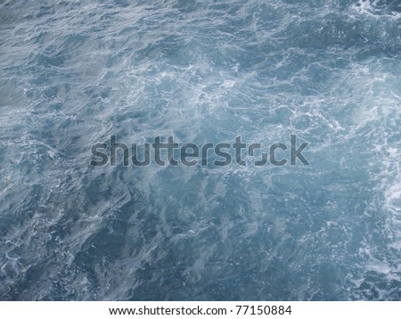 most beautiful texture of ocean water - stock photo