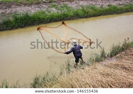 Most professional fishermen selling fish. Or find themselves living under Occupation. Typical of the suburbs. - stock photo