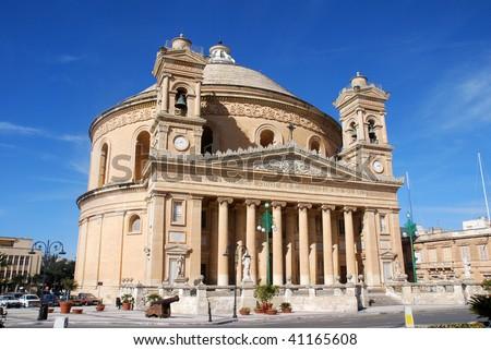 Mosta Dome in Malta - stock photo