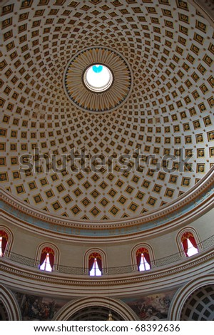 Mosta Dome on the malta - stock photo