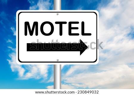 Motel Road Sign  - stock photo