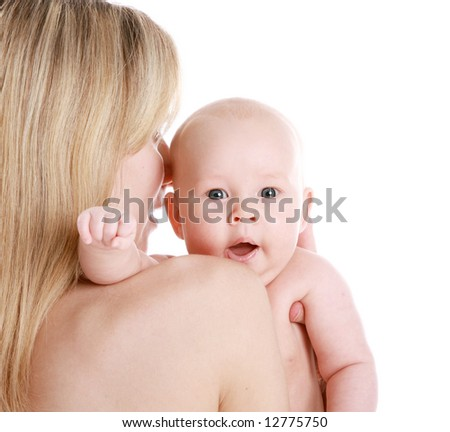 mother and baby (17) - stock photo