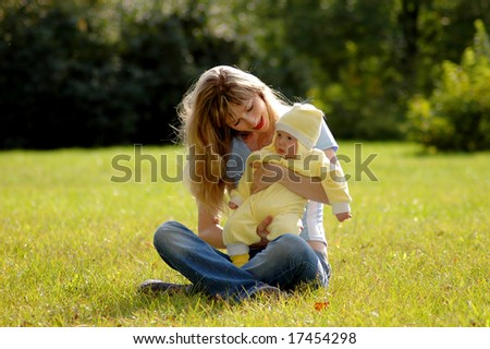 mother and child in park