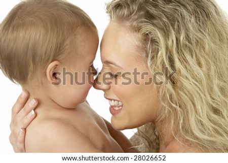 Mother And Child Smiling - stock photo