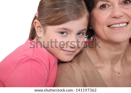 Mother and daughter close together - stock photo