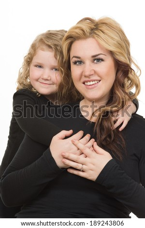 Mother and daughter ( mothers day) - stock photo