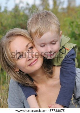 Mother and son - stock photo