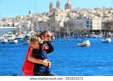 mother and son travel in Malta, Europe, family travel