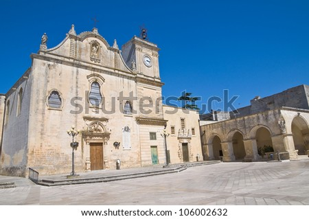 Mother Church of St. Giorgio. Melpignano. Puglia. Italy.