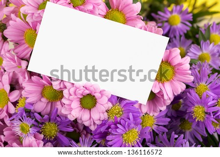 mother day greeting, blank message. - stock photo