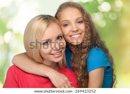 Mother. Happy mother and daughter - stock photo