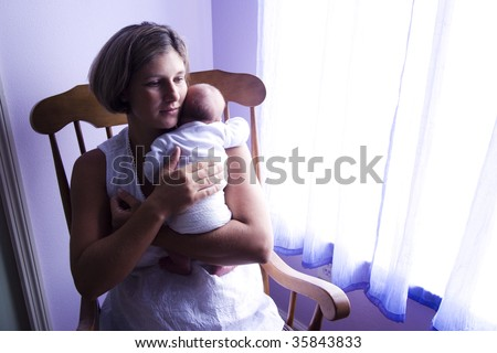 Woman Thinking Of A Baby Stock Photos, Woman Thinking Of A Baby Stock ...