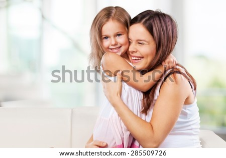 Mother, mom, toddler. - stock photo
