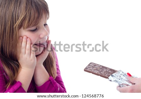 Mother's chocolate looks delicious - stock photo