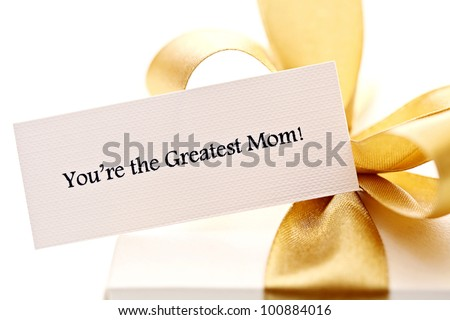 mother's day gift with note