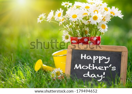 Mother's day greeting concept - stock photo