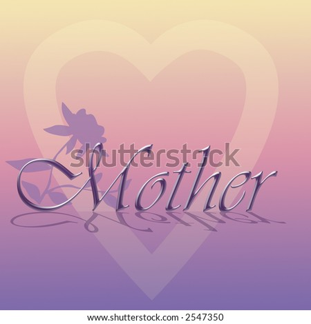 Mother's Day or Mother's Birthday Illustration - stock photo