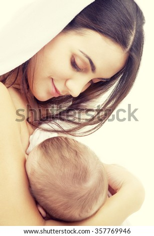 mother with baby boy  - stock photo