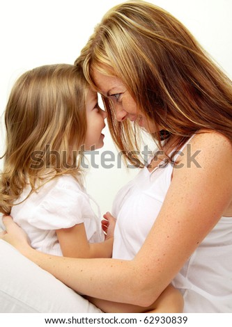 Mother with baby girl - stock photo