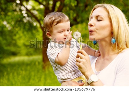 Mother with happy son
