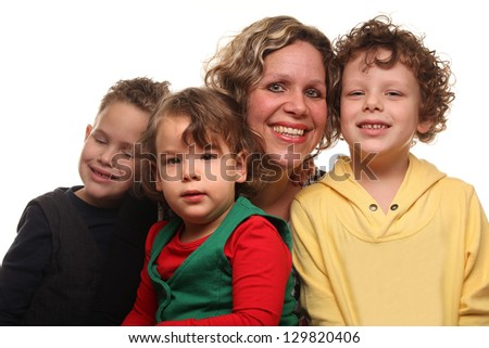 Mother with her kids