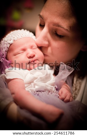 Mother with Newborn - stock photo