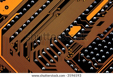 motherboard circuits - stock photo