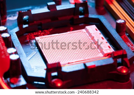 motherboard cpu socket - stock photo