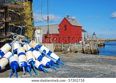 Motif #1 with Buoy - stock photo
