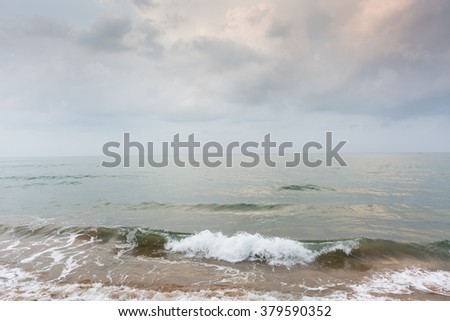 Motion and blurred wave of the sea