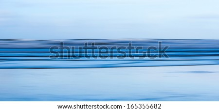 Motion Blur Abstract Seascape Panorama - stock photo