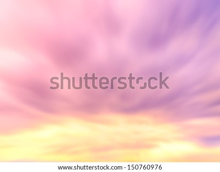 Motion blur background - Beautiful sky and clouds - stock photo