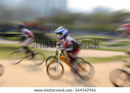 motion blurred bike background